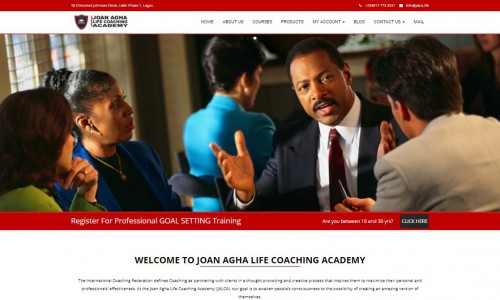 Joan Agha Life Coaching Academy - Lagos