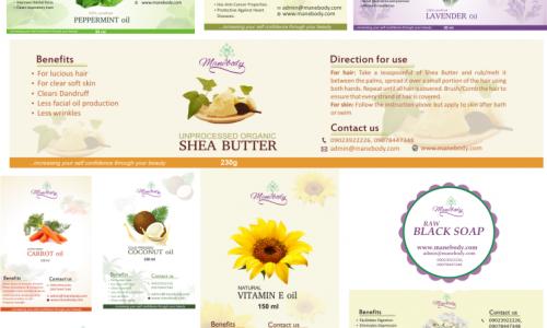 Products Branding - Manebody Ltd. - PHC