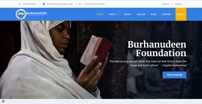 Burhanudeen Islamic Foundation – Kogi