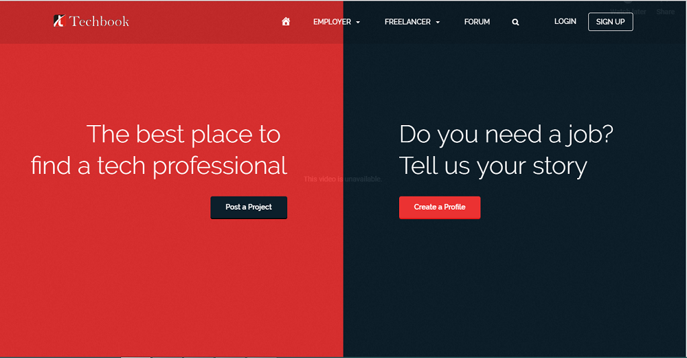 Techbook – Tech Freelance & Jobs Portal