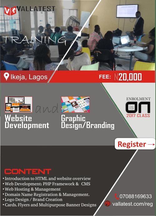 Vallatest Training Flyer Min Web Design Company In Lagos Vallatest Technologies