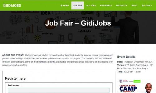 Gidijobs Jobfair - Lagos