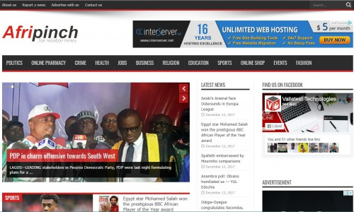 Afripinch News Portal - Lagos
