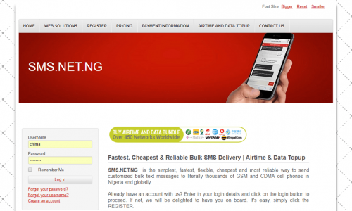 SMS.NET.NG | Bulk SMS Portal and More