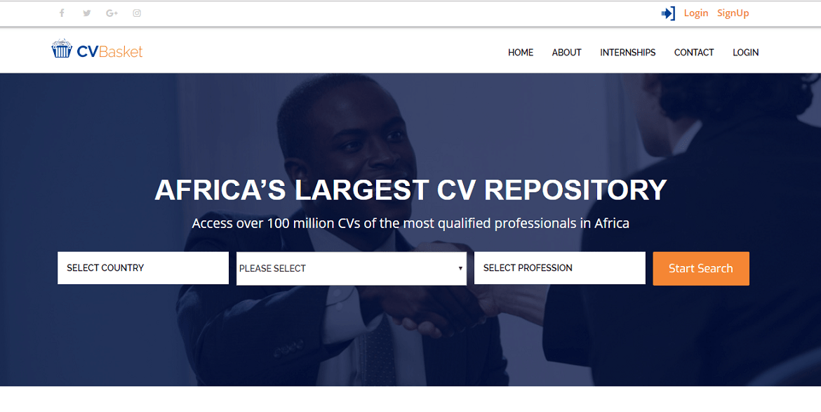 CV Basket | Africa's Largest CV Repository